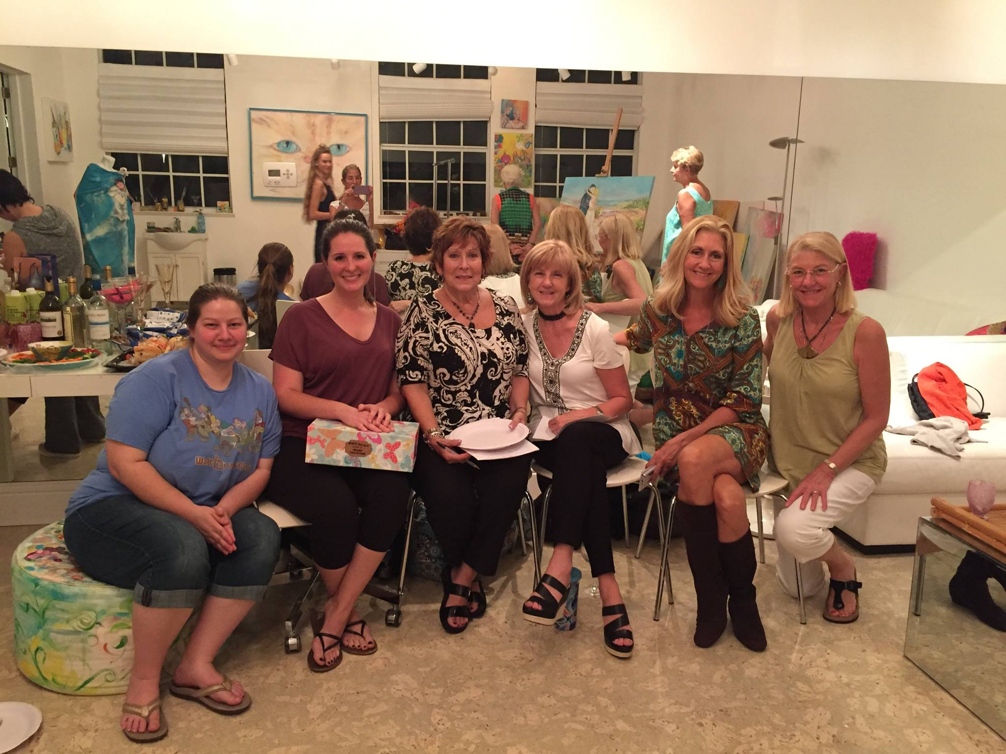 Local Artists come together to paint for the Empty Bowls Naples Auction