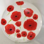 19E Keeley Murray Poppy Platter