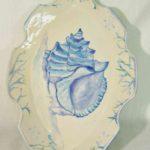 20E Colleen Sutton Blue Conch Shell