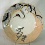 22F Marie Cliffe Japanese Crane Bowl