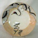 22F Marie Cliffe Japanese Crane Bowl