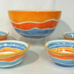 5A Beate Buergel Sunset Bowl Set