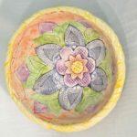 8A Donna Torrance Textured Garden Bowl